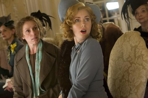 Miss Pettigrew Lives for a Day - Frances McDormand and Amy Adams before the big makeover.