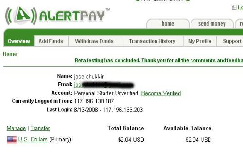 Pay Proof. - scree shot
