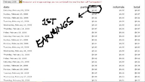 mylot earnings - my first month earning's. take a look of my first day earning? can you imagine how small it was but it's the way that i earn now more than $100 from myLot.