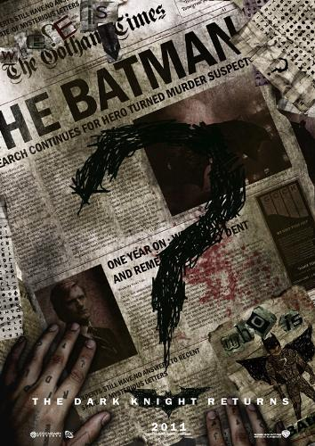 A Very good fake Batman 3 Poster - This is a fake Batman 3 poster, a very good fake batman poster. What do you think and what if we see the riddler in the next movie.