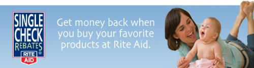 Rite Aid Single Check Rebates - This is a picture from Rite Aid for Single Check Rebates