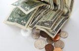 money - dollar bills and coins