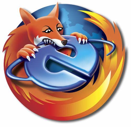 Firefox beats Internet Explorer - Firefox is better than Internet Explorer. So it eats it up.