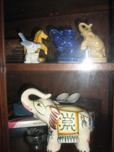 figurines in our cabinet - our collections form other countries and from other people as well.