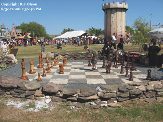 Huge Chess Game - Taken at th Minnesota renassiance Festival 8-30-2008.