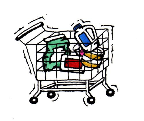 supermarket cart - products that you buy