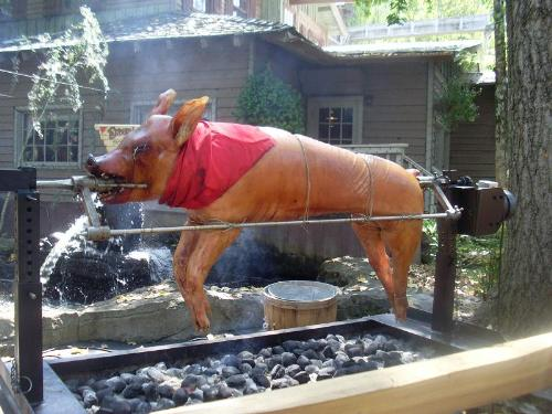 Roasted pig - A roasted pig which very special food in my country my friend send me this photo.