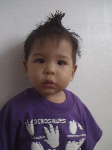 My cute 1 year old son - isnt he the cutest and very handsome? hee hee!