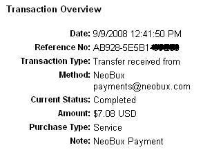 neobux - 6th payout