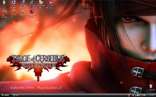 my desktop - This is my desktop. I am planning to change it, but for now, i am enjoying the Final Fantasy Photo.