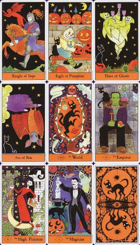 Halloween Tarot Deck - These are samples from the deck I just ordered, I love them!