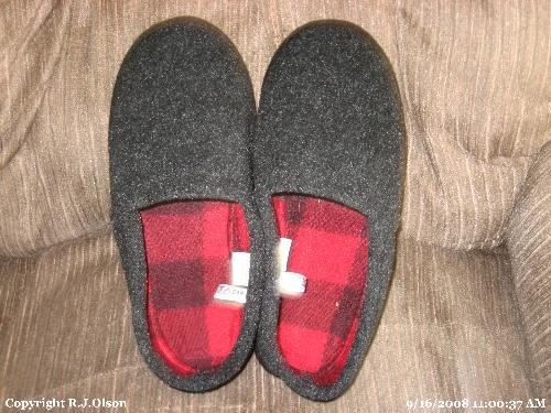 new Slippers - Fuzzy and warm.