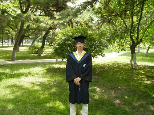 I graduated from NorthEastern University! - I graduated from NorthEastern University on Jul.1st,2007,this picture is taken on that day.