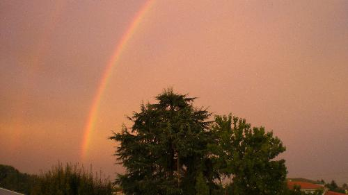 2 rainbows in a rainy day - here's a shot took from my bedroom near the sunset!