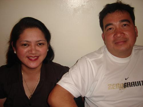me and the kindest husband on earth-my macho man - he has a very soft heart,especially for the poor. He loves us very much.