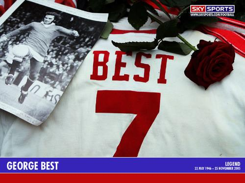 The Best Number! - Georgie Best's no. 7 jersey - a number he and his followers made famous.