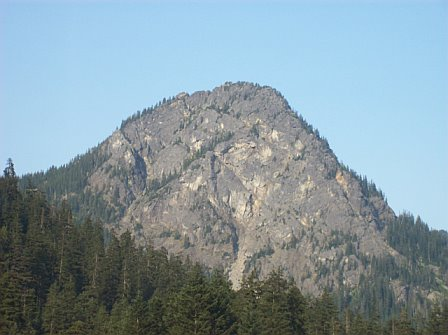 Mountain in the Cascade range - I took this picture while driving east from Seattle Washington