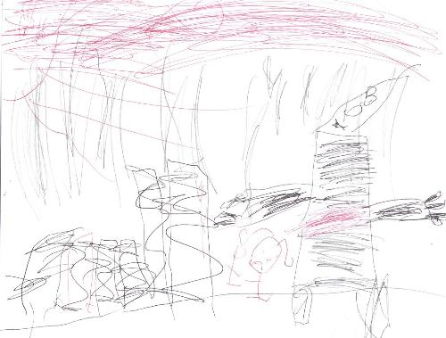 My son's drawing - my son drew a picture for me. He was just 4 then.