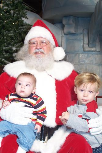 liam and anthony  - my boys last year with santa :)