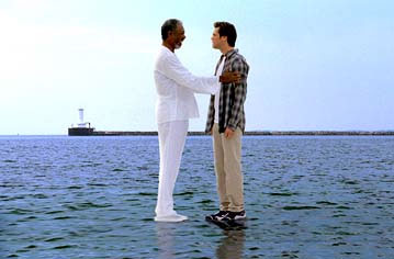 Morgan and Jim in Bruce Almighty
