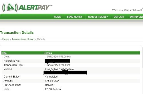My First Payment!!! - This is the screenshot from my first payment for my online business. It makes me happy that it works, and excited to help others find this!!!