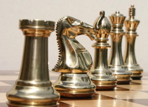 ...c'mon, I challenge you.... - I am a chess master.