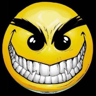 Evil smiley - Nice one:)