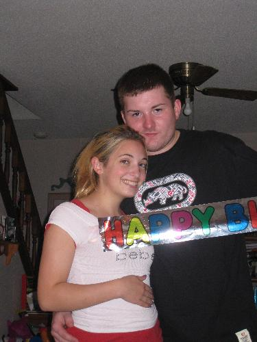 daughter Lauren with her boyfriend - taken at Lauren's 19th Birthday party Sept. 2008