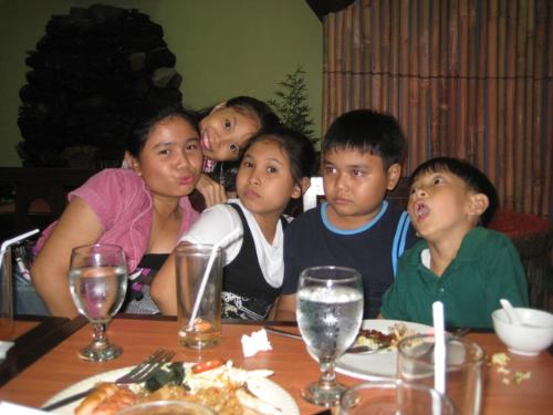 cute kids - kids in a restaurant