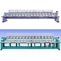 Flat Embroidery Machine - The machine widely used in making fashion,Curtain,bedspread,ornaments and craft. Frature: 1?The new special design of head structure can settle thread bounding problem during breaking.This design can improve efficienc greatly. 2?New technologies on lessening noise &amp; tremor. Adopt mute machinery structure on machine. which lessen noise in surroundings. 3?With/withour auto-trimmer. 4?The max speed is up to 1000RMB 5?Multi-language operation system:Chinese,English,Korean,Spanish,Turkish can be available free. The language can be designed according to customer&#39;s requirements. 6?Control system can directly read the design of DST &amp; DSB. 7?USB port &amp; floppy port conveniently data transfer.