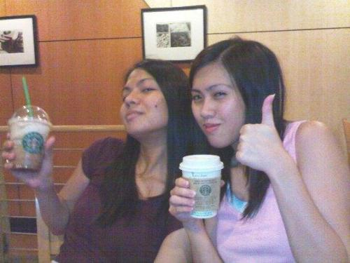 starbucks drunks - here is a photo of me and my niece in starbucks. it was about 2 in the morning. we (me, my niece, my nephew, another niece and her boyfriend) had a some alcoholic drinks at home. and when we felt a little tipsy, we decided to go to starbucks for some drinks.