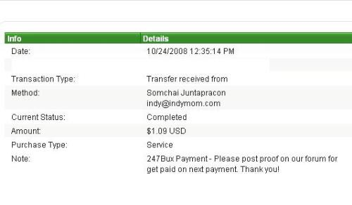 Payment from 247bux - My first payment from 247bux