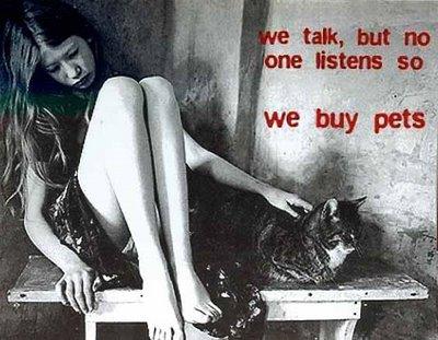 pets - woman at thinking