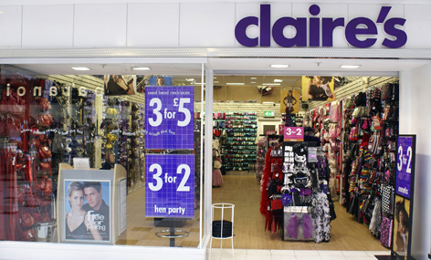 Claire's - Claire's department store for girls.