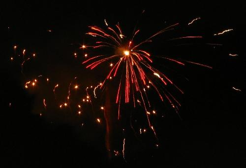 Diwali Fireworks - Picture of a firework during the Diwali festival.