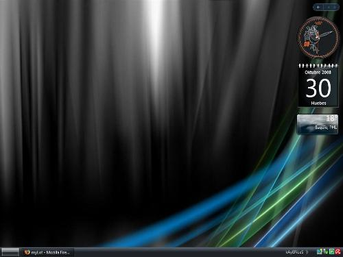 my current desktop - black is beautiful :)