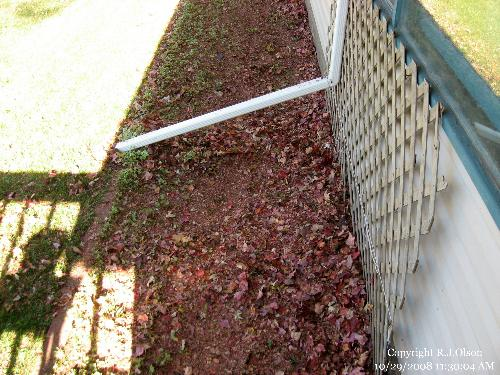 Mulched Leaves - Turned into mulch for the flower bed recently.