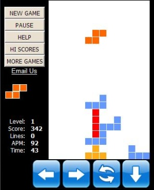 Tetris game in iphone - This picture is a tetris game picture. this game is used in the iphone with the name of itetris. in this it is easy to play the tetris game