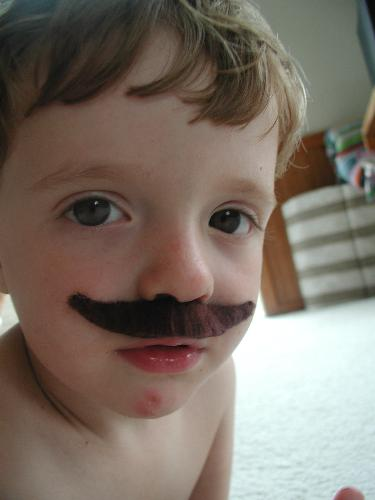 moustace - kid with moustache