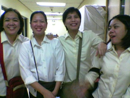 joy, jill, carol and sherril.. - four of my friends in pagcor..