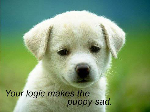 The puppy is sad! - Ouch! I hate to see the puppy sad.. :(   Well, I just got this picture in google..