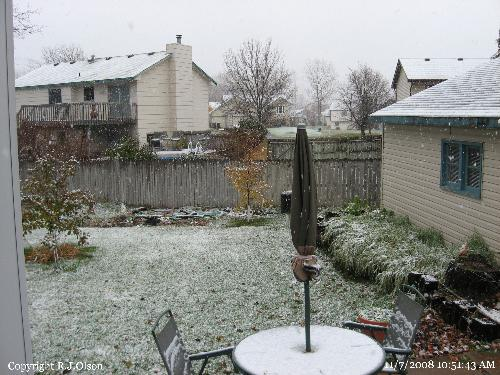 First snow - Finally got a little snow here in Minnesota.