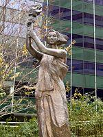 Goddes of Democracy - something like the Statue of Liberty