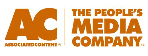 associated content logo - orange medium-sized Associated Content logo with their slogan to the right