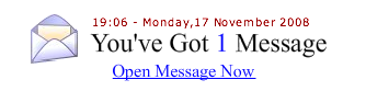 """Preview of the add - """"You've Got 1 Message"""" -.-"""