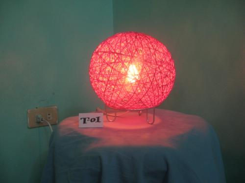 Pls. lit up my mind! - A piece of table lamp, made of abacca fiber.