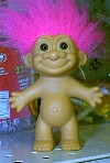 "This is what comes to mind when I hear ""Troll"" - This is a picture of a Troll doll."