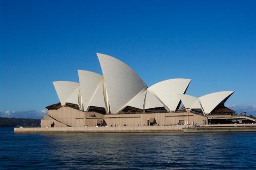Sydney Opera House - One of the most famous Australian architectural landmarks! Designed by a DAnish Architect by the name of Jorn Utzon.