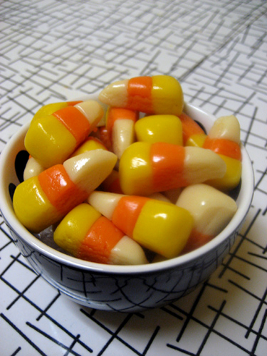 home made candy corn - as above