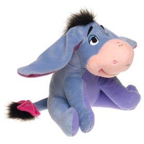 Cuddley eeyore toy - The animal residing on my bed.